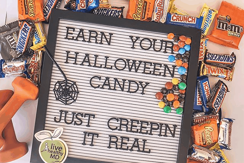 how much will you have to exercise to burn off the Halloween candy